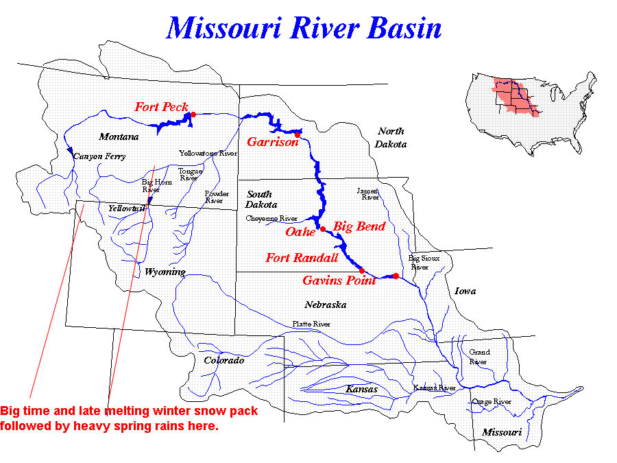 Us Physical Map Missouri River Swimnovacom - Us physical map rivers